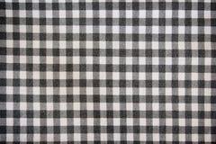 Square black and white plaid fabric Stock Image