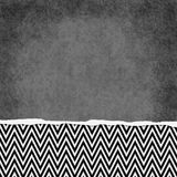 Square Black and White Zigzag Chevron Torn Grunge Textured Backg Royalty Free Stock Image