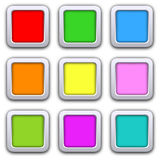 Square blank icons Royalty Free Stock Photography