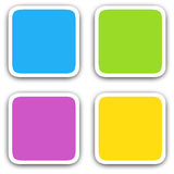 Square blank icons Stock Photos