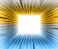 Square blank  sguare with blue orange beams Royalty Free Stock Photography