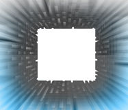 Square blank  sguare with blue side blur Stock Image