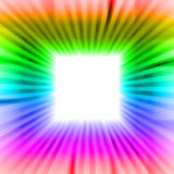 Square blank  sguare with rainbow beams Royalty Free Stock Photo