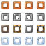 Square Blocks For Physics Game 2 Stock Photos