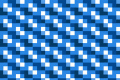 Square blue abstract pattern background Stock Photography