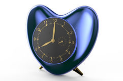 Square blue alarm clock Stock Photography