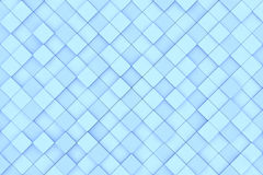 Square blue background pattern. Square blue 3D background pattern made of cubes Stock Images