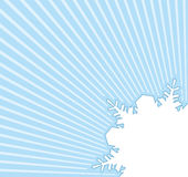 Square blue banner with snowflake.Winter background Royalty Free Stock Photo