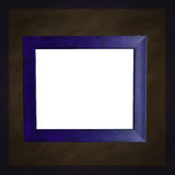 Square blue chalkboard with white frame Royalty Free Stock Images