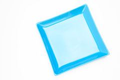Square Blue Dish Royalty Free Stock Images