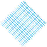 Square with blue lines. Isolated on white, can be used as background and textiles.  art work Royalty Free Stock Image