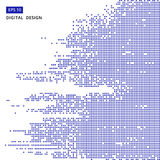 Square blue pattern pixel mosaic digital background Stock Photography