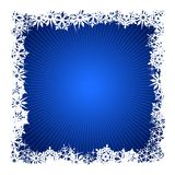 Square blue snowflake background. Grungy Christmas, winter snowflake background in blue and white. Use of global colors, blends. Snowflakes single objects Stock Image