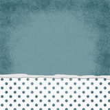 Square Blue and White Polka Dot Torn Grunge Textured Background Royalty Free Stock Photos