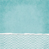 Square Blue and White Zigzag Chevron Torn Grunge Textured Backgr Royalty Free Stock Photography