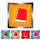 Square book buttons Royalty Free Stock Images