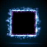 Square border with blue lights Stock Photo