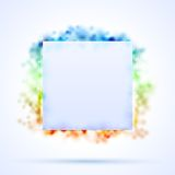 Square border with color sparks Royalty Free Stock Photography