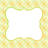 Square border frame green yellow Stock Photography