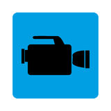Square border with tech videocamera. Vector illustration Royalty Free Stock Photo