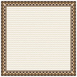 Square border and texture in American Indians tribal style. Stock Images
