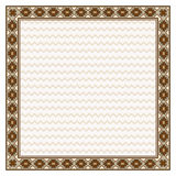 Square border and texture in American Indians tribal style. Royalty Free Stock Photography