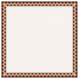 Square border and texture in American Indians tribal style. Stock Photography