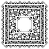 Square borders. Set of square ornamental vector borders Stock Images