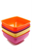 Square bowl set Royalty Free Stock Image