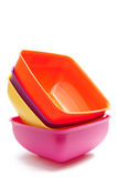 Square bowl set Royalty Free Stock Photos