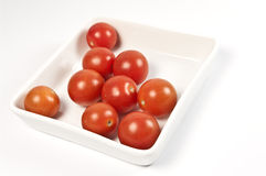 Square bowl with tomatos Royalty Free Stock Photography
