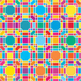 Square box colorful seamless pattern Stock Photography