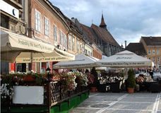The square in Brasov. Royalty Free Stock Photos