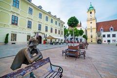 Square in Bratislava Royalty Free Stock Photo