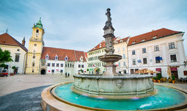 Square in Bratislava Royalty Free Stock Photography