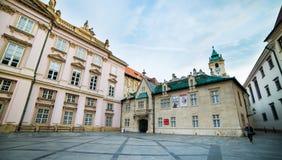 Square in Bratislava Royalty Free Stock Images