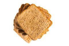 Square bread sliced isolated on white Stock Image
