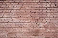 Square brick block wall background and texture. Painted in red.  royalty free stock images