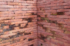 Square brick wall Royalty Free Stock Images