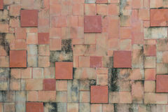 Square bricks wall texture Stock Photos