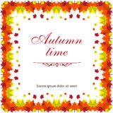 Square bright autumn template for text or banner Stock Photos