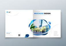 Square Brochure design. Corporate business template for rectangle brochure, report, catalog, magazine. Corporate. Business Annual Report Cover, brochure or vector illustration