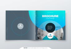 Square Brochure design. Magenta corporate business rectangle template brochure, report, catalog, magazine. Brochure stock illustration