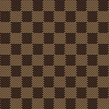 Square brown beige seamless fabric texture pattern Stock Photos