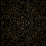 Square brown on black design Royalty Free Stock Photography