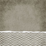 Square Brown and White Zigzag Chevron Torn Grunge Textured Backg Royalty Free Stock Photos