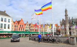 Square of Bruges Stock Photo
