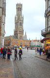 Square of Bruges Stock Photography