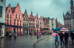Square in Brugge royalty free stock photos