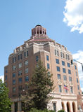 Square building. Government building in Asheville North Carolina during the summer Stock Photos